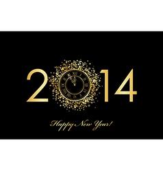 2014 new year clock vector image vector image