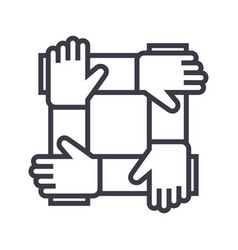 partnershipcollaborationhelp line icon vector image