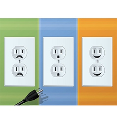 Receptacle vector image vector image