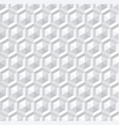 Seamless white 3d pattern vector