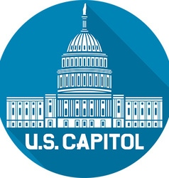 US Capitol Icon vector image vector image