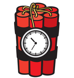 dynamite sticks with clock timer vector image