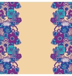 Mehndi vertical backrtound vector image vector image
