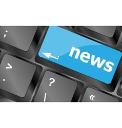 News text on a button keyboard keys Keyboard keys vector image vector image
