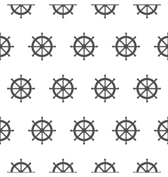 Seamless pattern with gray rudders Nautical theme vector image