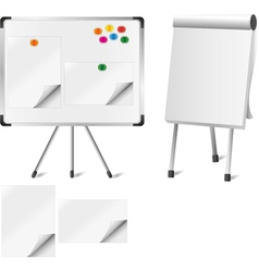 Two flipcharts vector image