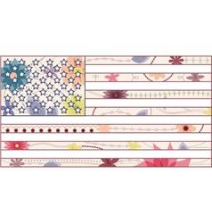 USA flag vintage vector image vector image
