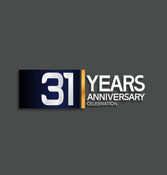 31 years anniversary logotype with blue vector