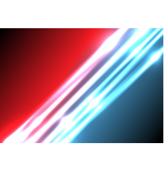 abstract blue and red lighting effect background vector image