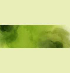 Abstract hand painted green nature watercolor vector
