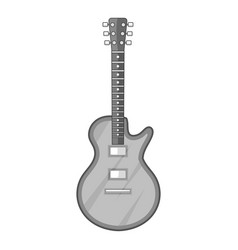 acoustic guitar icon monochrome vector image