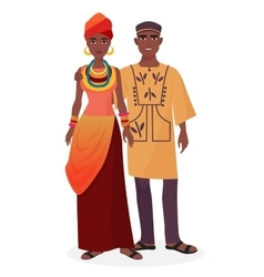 African family man and woman couple vector