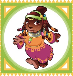 African lady vector image