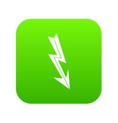 arrow lightning icon digital green vector image