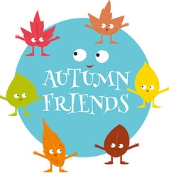 autumn friends vector image