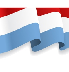 Background with waving Luxembourg Flag vector image