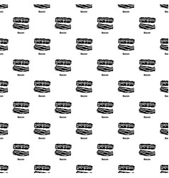 bacon pattern seamless vector image
