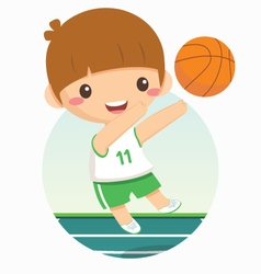 basketball boy vector image