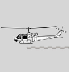 bell uh-1 iroquois vector image