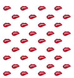 Bite lips pattern vector