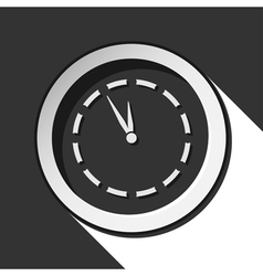Black and white round with last minute clock icon vector