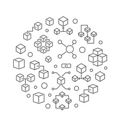 blockchain or cryptocurrency vector image
