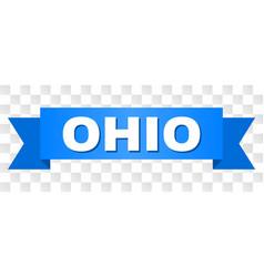 blue stripe with ohio caption vector image