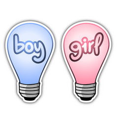 Boy and girl light vector