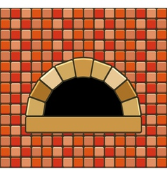 brick oven vector image
