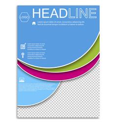 Brochure template flyer design background vector