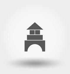 Building blocks cubes constructor toy icon vector