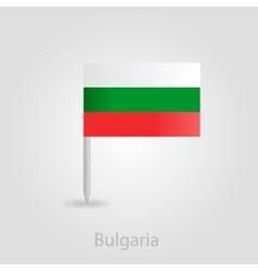 Bulgaria flag pin map icon vector
