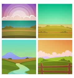 Cartoon Landscape Set vector image