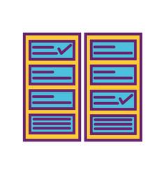 Check list mark strategy digital marketing vector