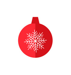 Christmas tree decoration ball vector