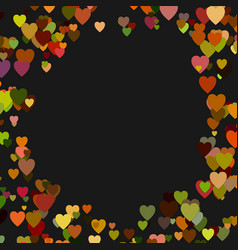 Colored random heart background design - love vector
