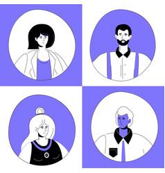 creative team - set flat design style vector image