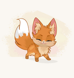 cute little fox vector image