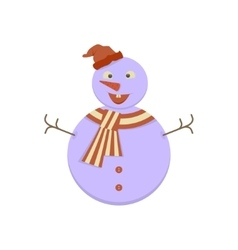Cute Snowman icon vector