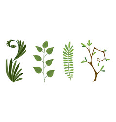 designer elements set collection of green vector image