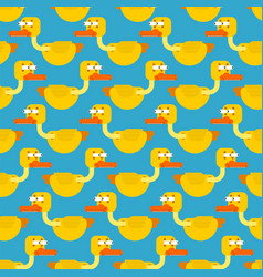 duck in shock seamless pattern frightened eyes vector image