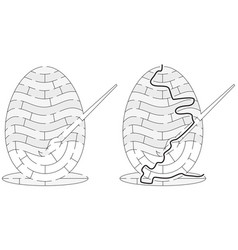 Easy easter egg maze vector