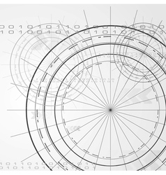 Elegant technology design vector image