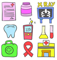 Element medical doodles vector