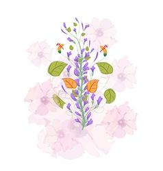 Field flowers watercolor vector
