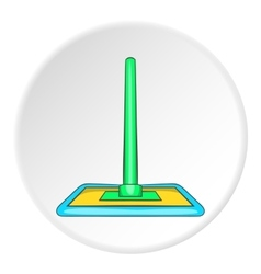 Floor cleaning mop icon cartoon style vector