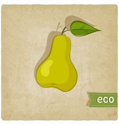 fruit eco old background vector image vector image