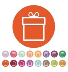 Gift box icon Present symbol Flat vector image