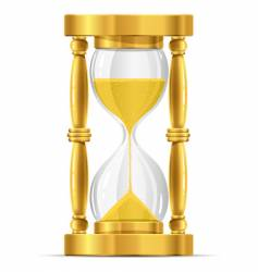 gold sand glass clock vector image