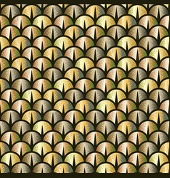 golden snake or fish scale seamless pattern vector image